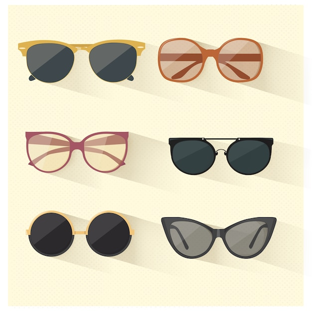 Vector sunglasses Free Vector