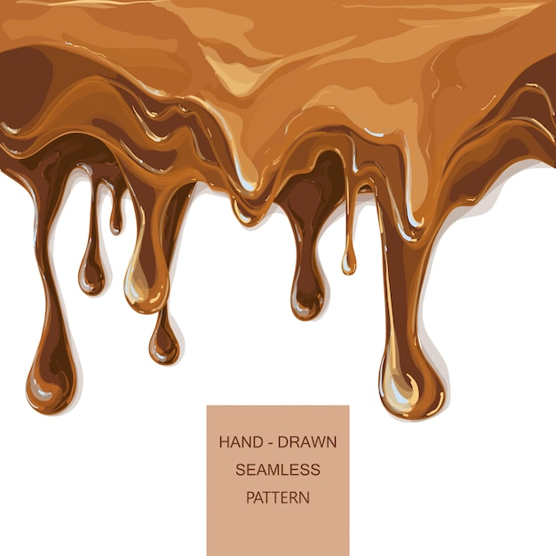 Vector syrup drip pattern on cake layers Premium Vector