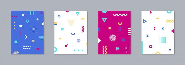 Vector template for covers Premium Vector