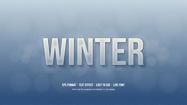 Vector text effect with ice blue shades. Premium Vector