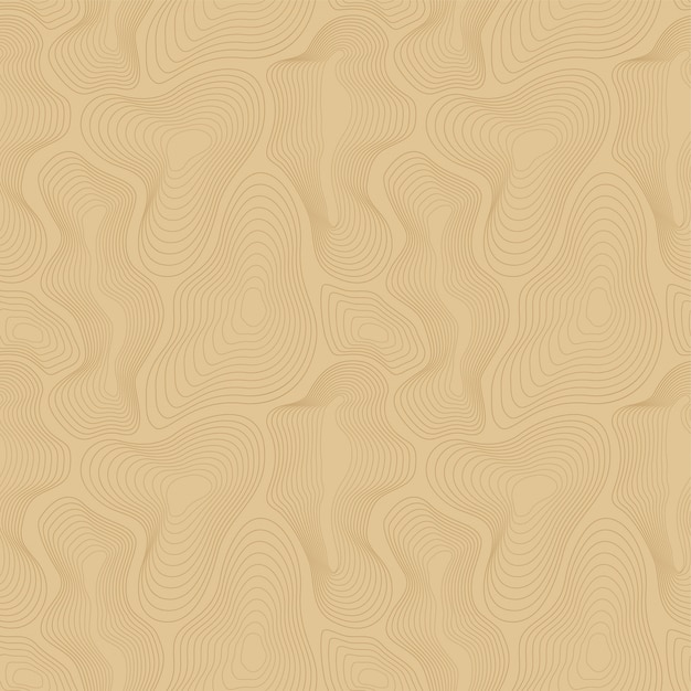 Vector topographic map background, curved lines. Premium Vector