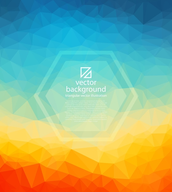 Vector triangle mosaic abstract background Premium Vector