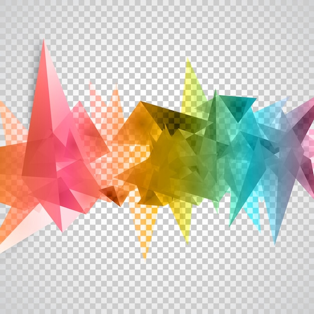 Vector triangles pattern background. Free Vector