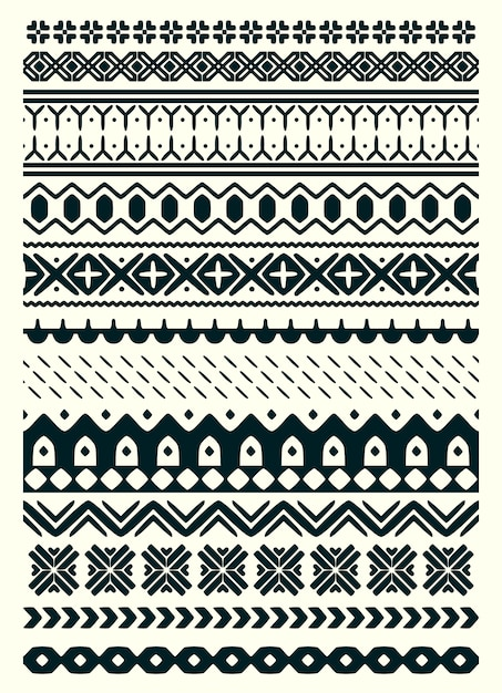 Vector ugly sweater seamless Premium Vector