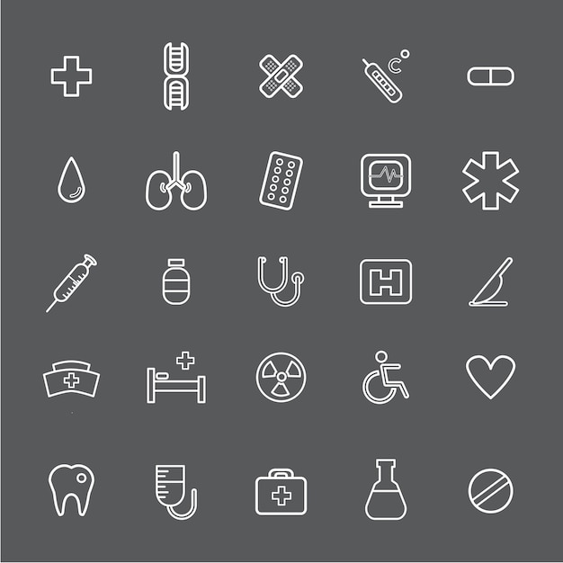 Vector ui illustration health healthcare hospital concept Free Vector