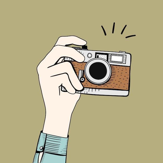 Vector of vintage camera Free Vector