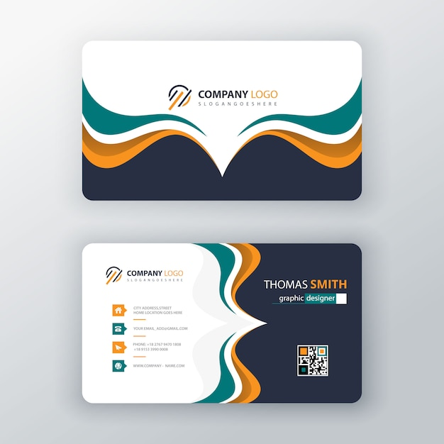 Vector visit card template Free Vector