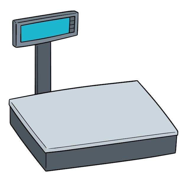 Vector of weighing machine Premium Vector