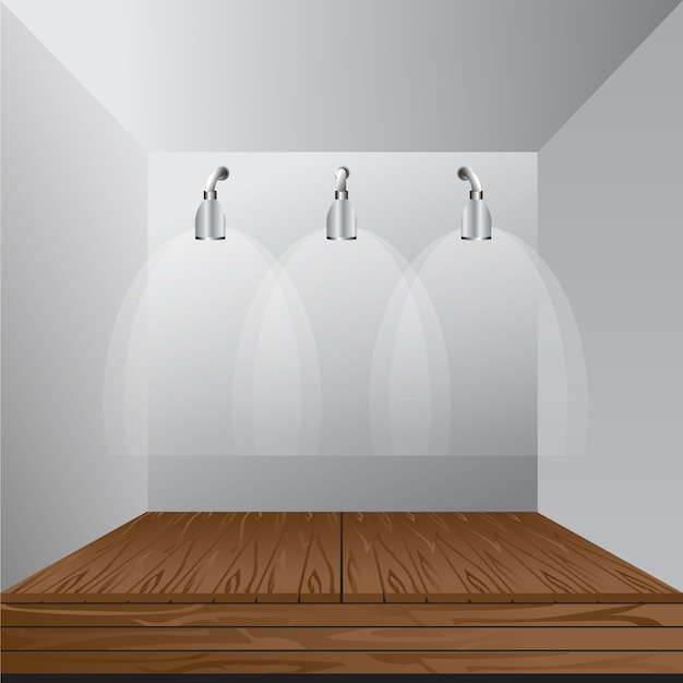 Simple Exhibition Stand Vector : Vector white blank indoor trade exhibition booth standard