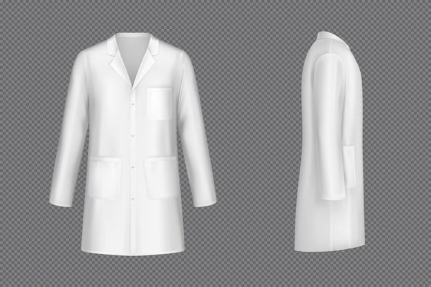 Вектор белый доктор пальто, медицинская форма Бесплатные векторы