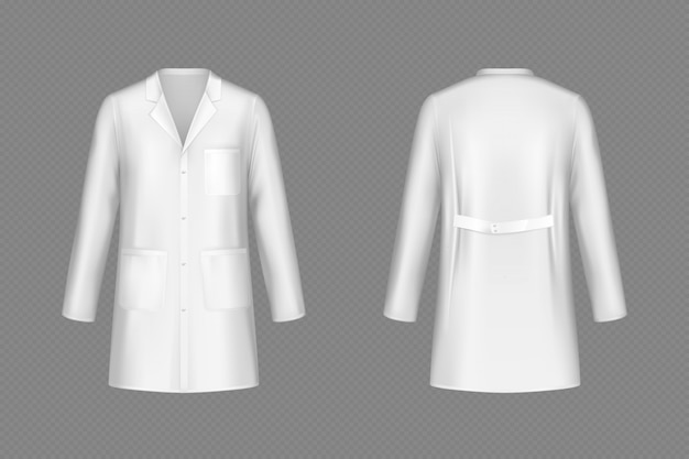 Vector white doctor coat, medical uniform Free Vector