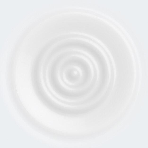 Vector white milk yogurt is circular and cream white Premium Vector