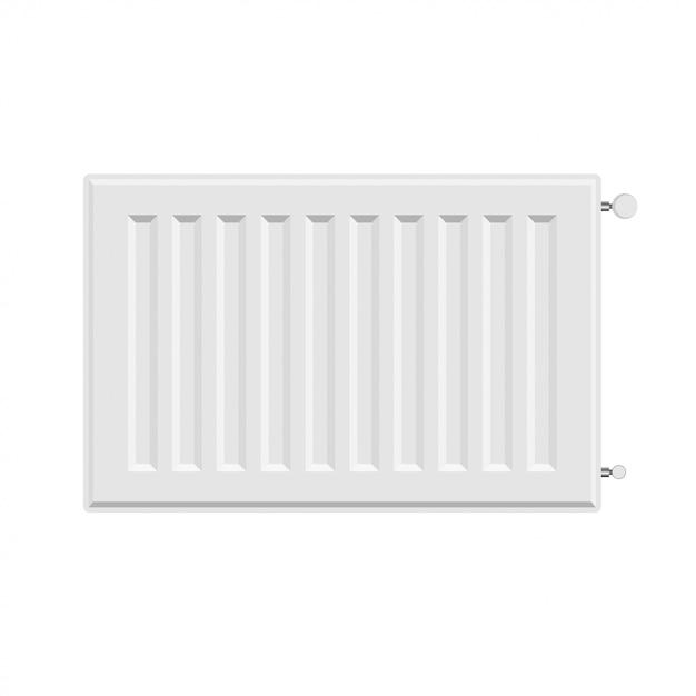 Vector white radiator heater Premium Vector
