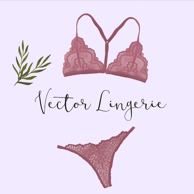 Vector women's lingerie Premium Vector