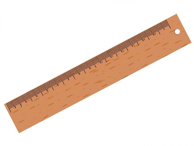 Vector wooden ruler Premium Vector