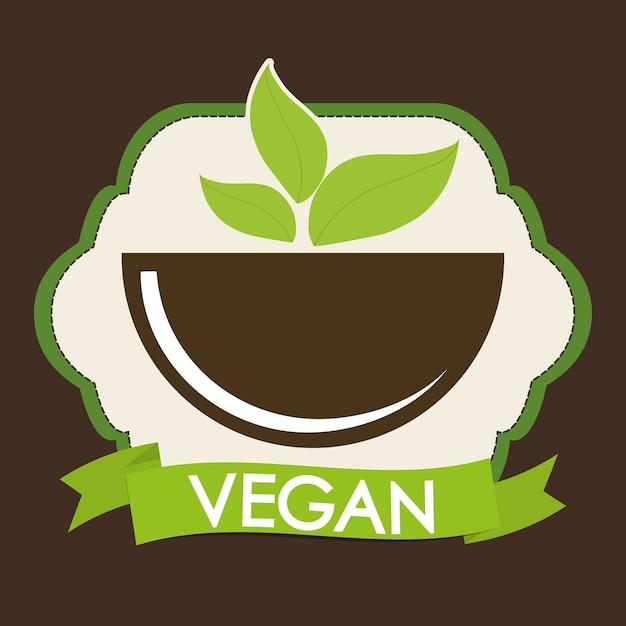 Vegan icon design Vector | Premium Download