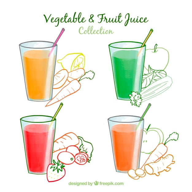Vegetable and fruit juice collection