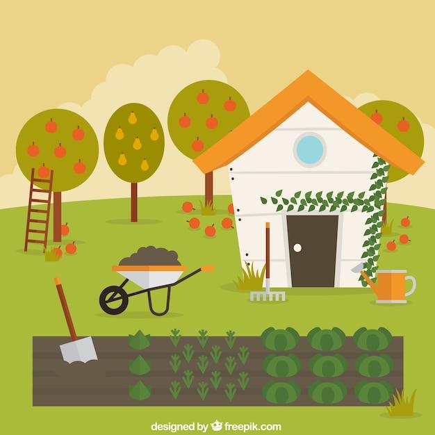 Vegetable garden Vector Free Download