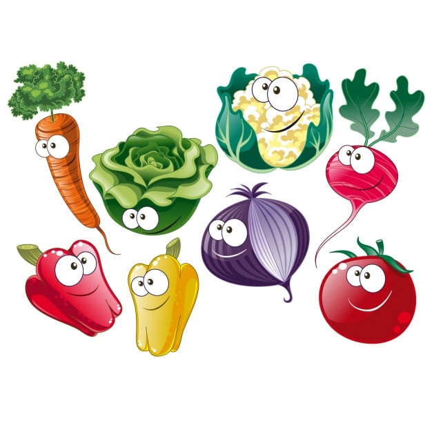 Vegetables collection Free Vector