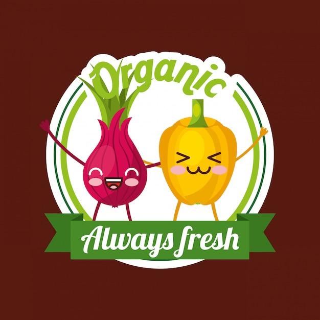 Vegetables fresh food Premium Vector