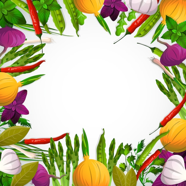 Vegetables and spices Free Vector