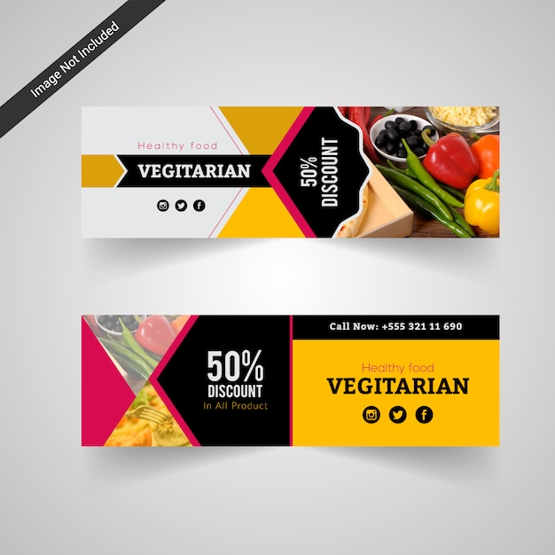 Vegetarian food discount banner vector free download vegetarian food discount banner free vector reheart