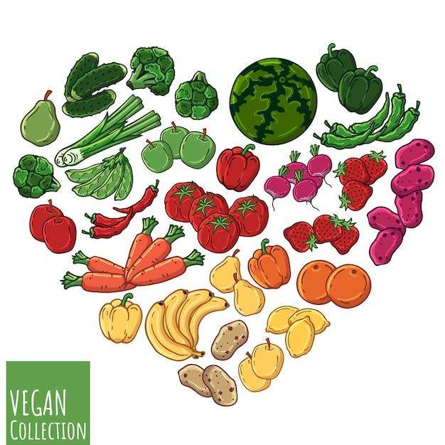Vegetarian heart Premium Vector