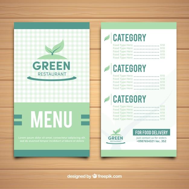 Vegetarian restaurant menu