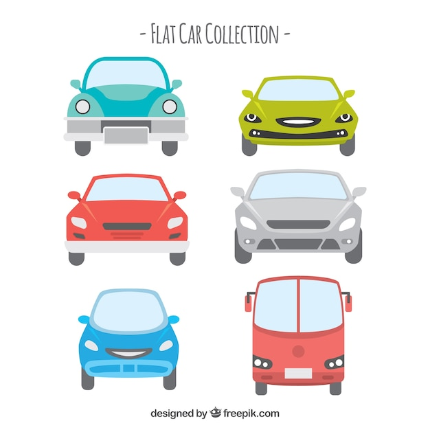 vehicle pack in front position vector free download