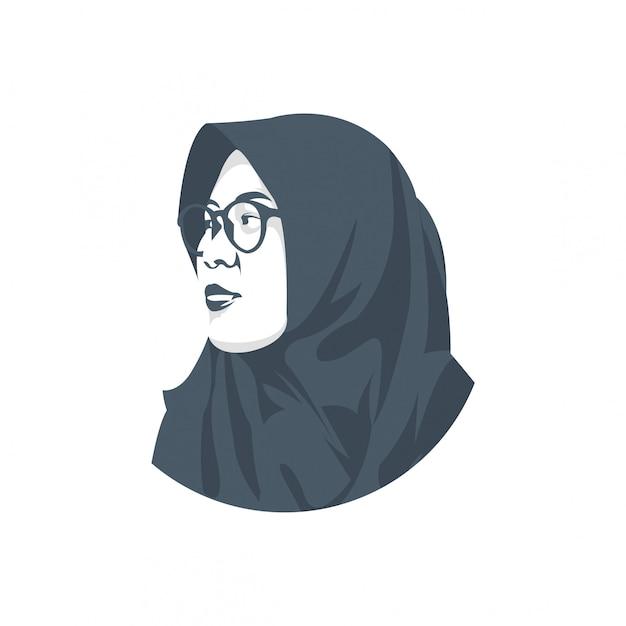 Veil women character Premium Vector