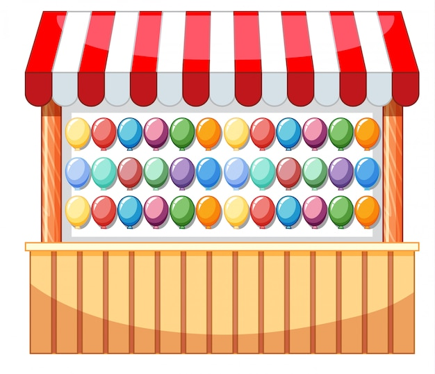 Vendor design at funfair with balloons Free Vector