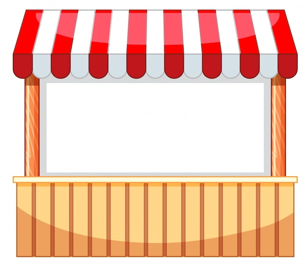 Vendor at funfair with wooden bar Free Vector