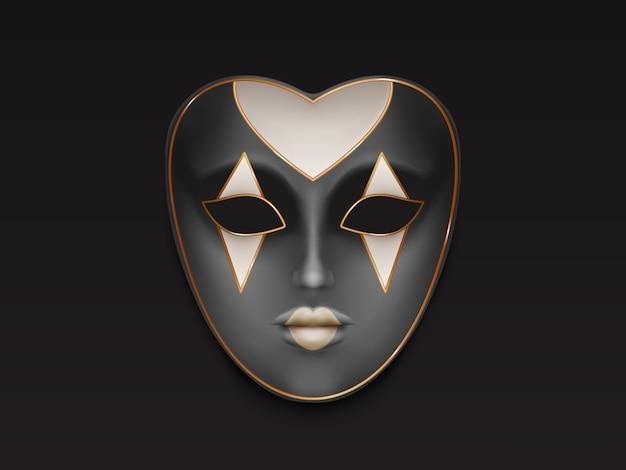 Venetian or mardi gras carnival, holiday masquerade Free Vector