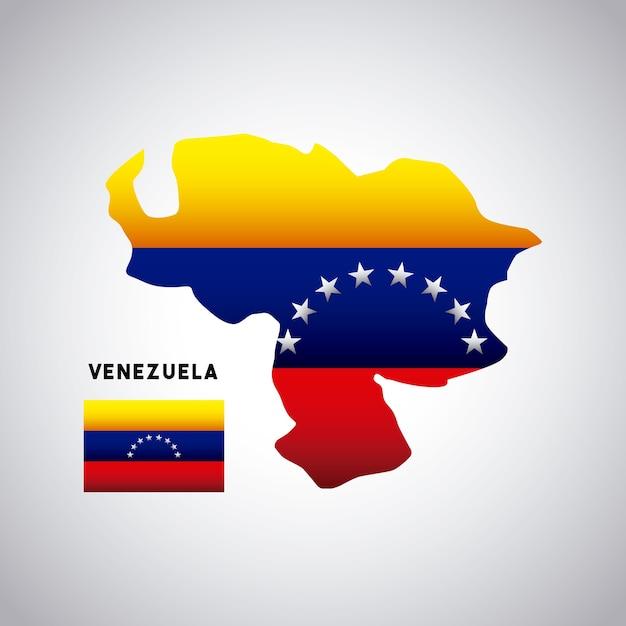 Venezuela country design Premium Vector