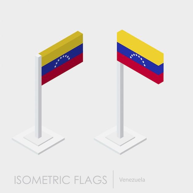 Venezuela flag 3d isometric style Free Vector
