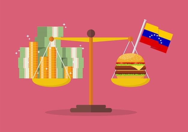 Venezuela hyperinflation concept Premium Vector