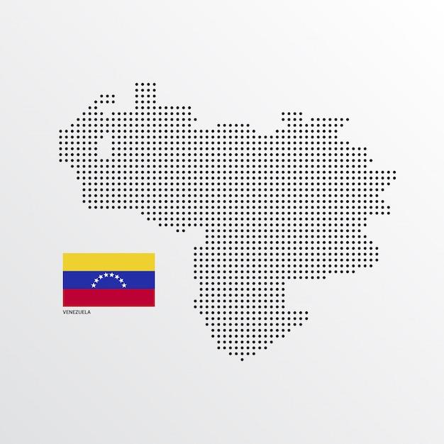 Венесуэла дизайн карты с флагом и светлым фоном вектора Бесплатные векторы
