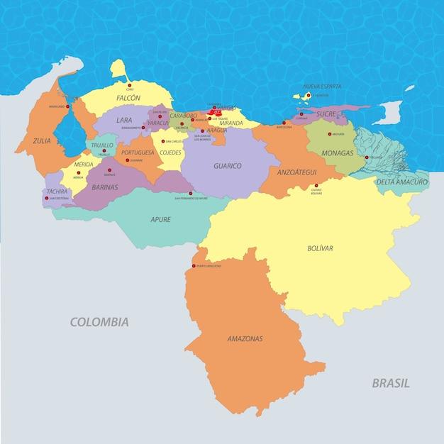 Venezuela Map Vector Premium Vector