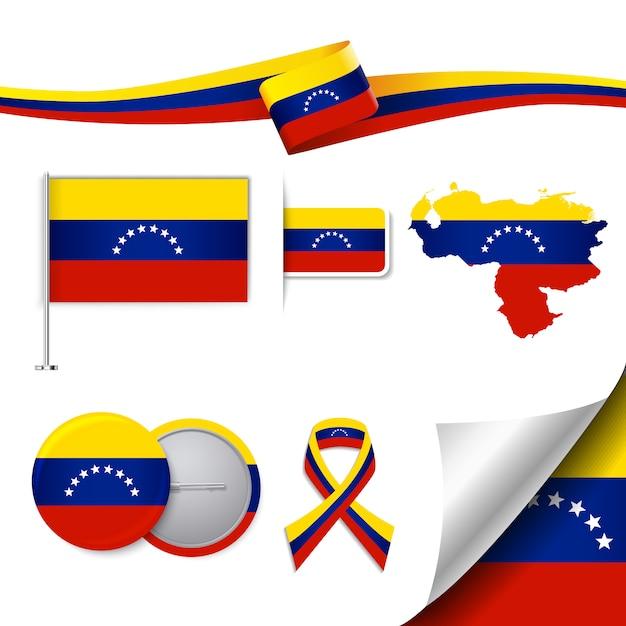 Venezuela representative elements collection Free Vector