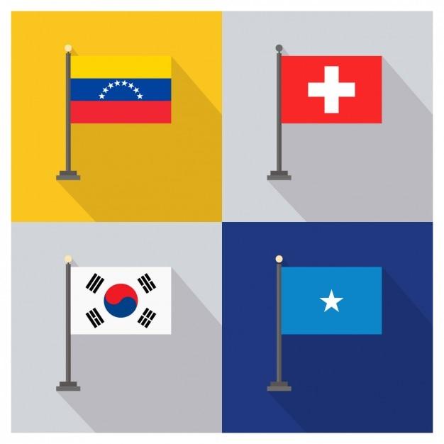 Venezuela switzerland south korea and somalia Free Vector