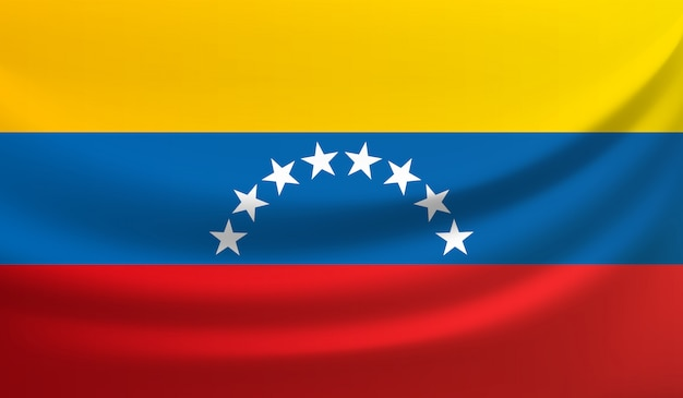 Venezuela waving flag vector illustration Premium Vector