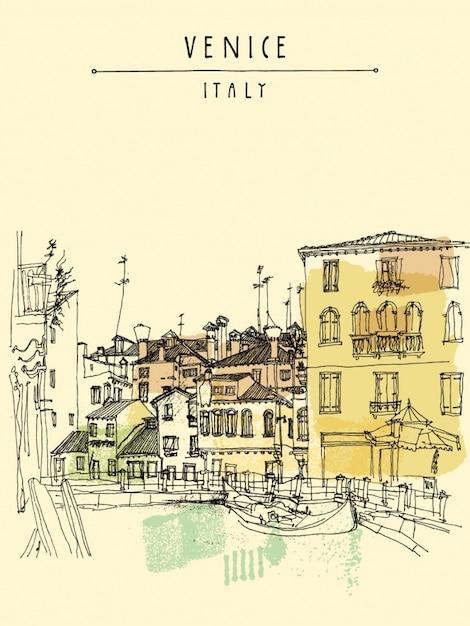 Venice background design Free Vector