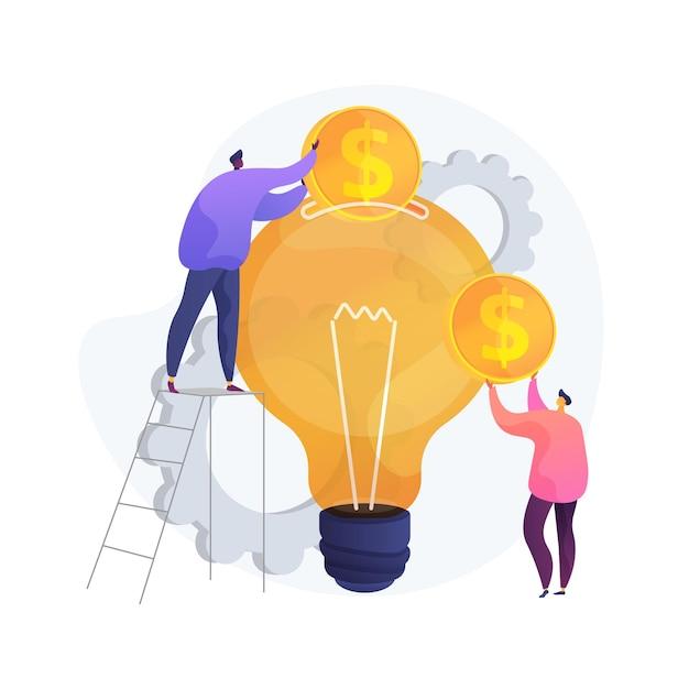 벤처 투자 추상적 인 개념 그림 무료 벡터