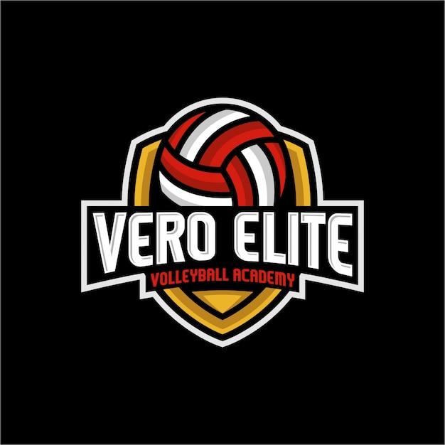 Vero elite volleyball Premium Vector