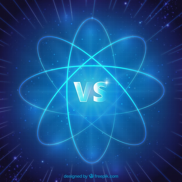 Versus background with atom Free Vector