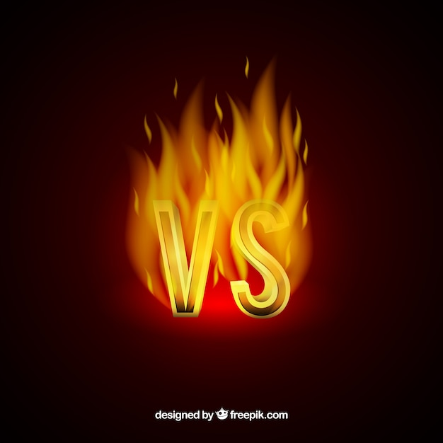 Versus background with fire design
