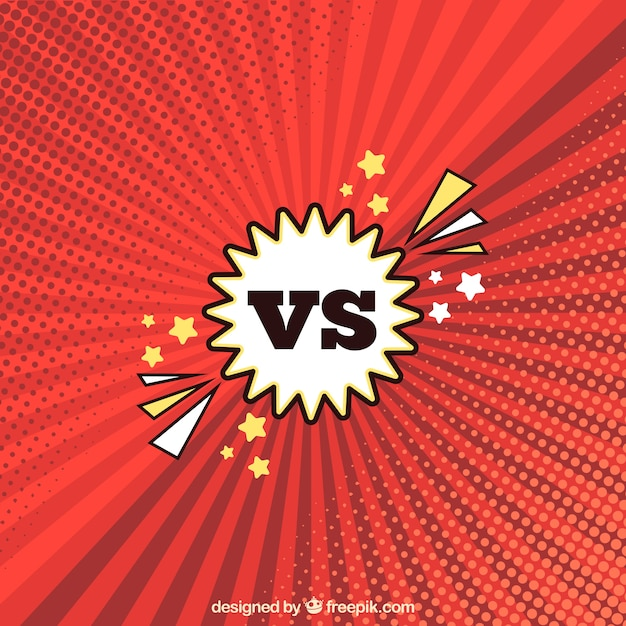 Versus background with modern style
