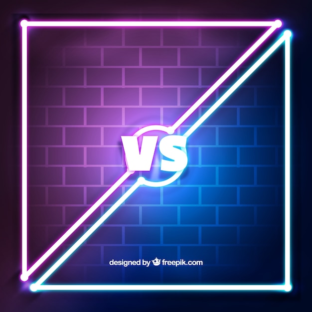 Versus background with neon lights and wall vector free download versus background with neon lights and wall free vector aloadofball Images