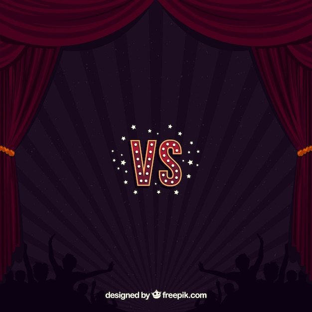 Versus background with stage and crowd
