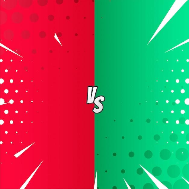 Versus in comic style Free Vector
